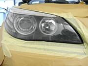 Herstel van beschadigde koplampen | voor de reparatie